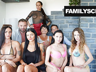 Sisters Busy like Whores - Stepfamily Sticks Together