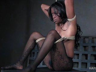 Buxom black hottie Melody Cummings is made for wild BDSM divertissement