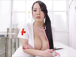 Big melons Asian nurse bosomy erotic show
